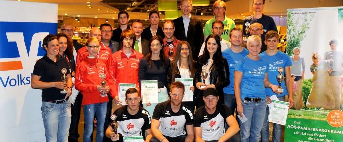 Team-Ehrung beim 11. Siegerländer AOK-Firmenlauf 2014