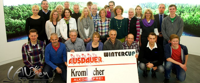 Siegerehrung Ausdauer-Wintercup 2014/15 in der Krombacher Braustube