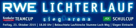 3. RWE-Lichterlauf – Laufen für Schneeräumung der sieg-arena