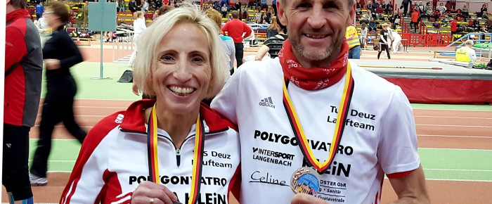 Silber und Bronze für TuS Deuz bei Deutschen Senioren-Hallenmeisterschaften