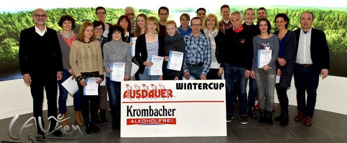 """Abschluss des Ausdauer-Wintercups 2015/16 bei Krombacher """"Dreiklang"""""""