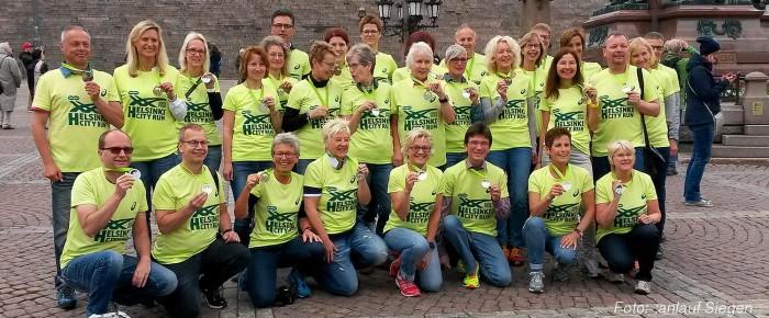 Siegerländer beim Helsinki-City-Run auf den Spuren von Paavo Nurmi