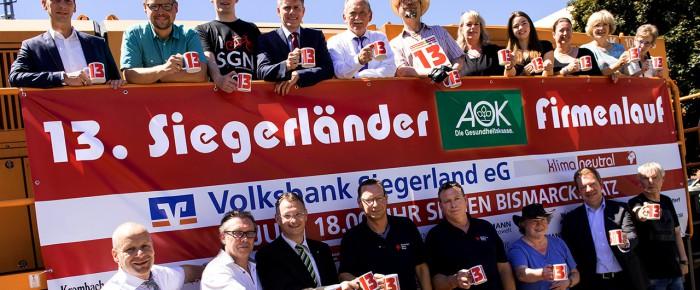 Limit ist erreicht: 9.000 Starter beim 13. Siegerländer AOK-Firmenlauf