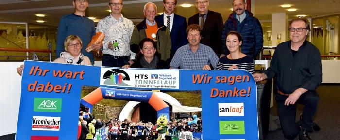 """Preisverleihung beim HTS-Volksbank-Tunnellauf – Organisatoren sagen """"Danke!"""""""
