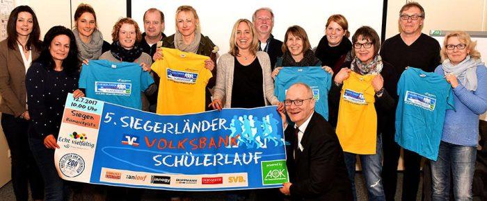 """5. Siegerländer Volksbank-Schülerlauf ein """"Großer Lauf der Grundschulen"""""""