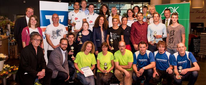 Siegerehrung zum 14. Siegerländer AOK-Firmenlauf 2017
