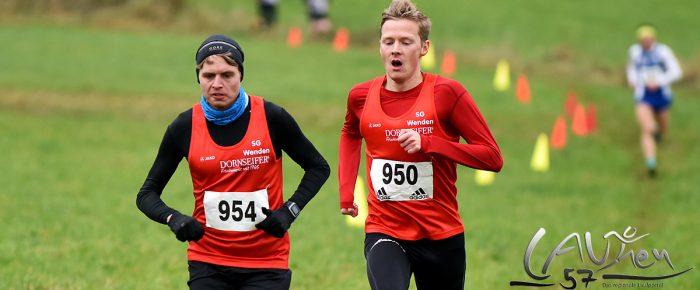 Fabian Jenne und Marco Giese nach Fotofinish zeitgleich Crosslauf-Meister