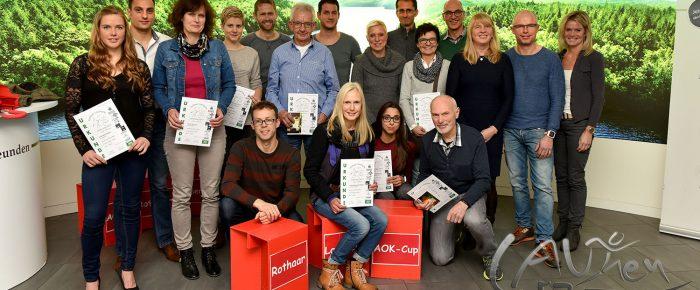 Siegerehrung zum Abschluss der 16. Rothaar-Laufserie um den AOK-Cup