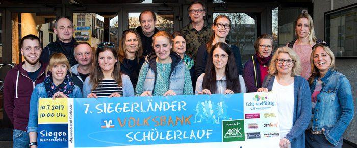 Vorbereitung für den 7. Siegerländer Volksbank-Schülerlauf 2019 laufen