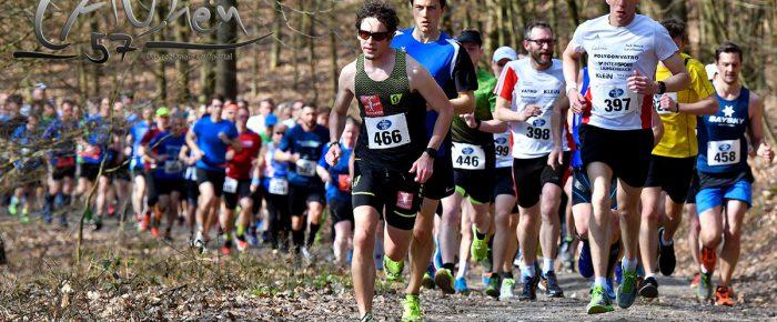 Teilnehmerboom beim 21. Ferndorfer Frühjahrswaldlauf – Tim Dally vorn