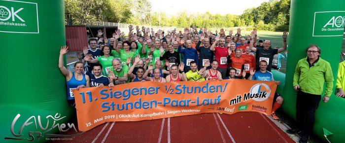 Franziska Espeter und Timo Böhl liefen beim 11. Siegener Stundenlauf neuen Rekord mit 19.100 Metern