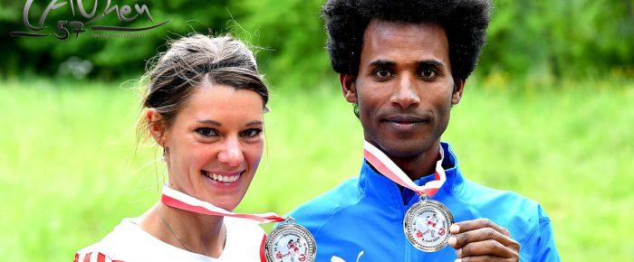 Eyob Solomun und Tina Schneider Sieger beim 30. Deuzer Pfingstlauf