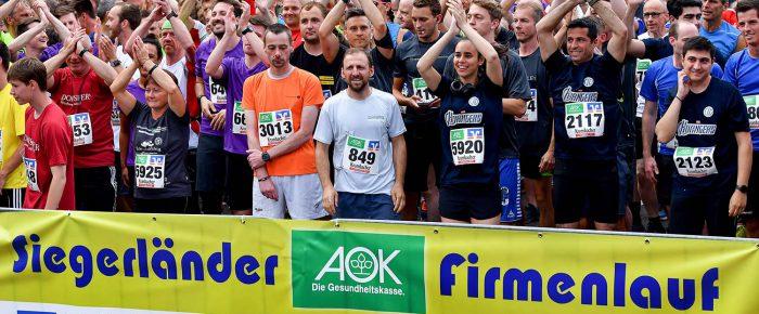 Bunter Karneval mit 8.500 Startern beim 16. Siegerländer AOK-Firmenlauf